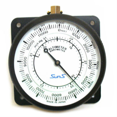 Altimeter with case and mounting plate - The Compleat Naturalist