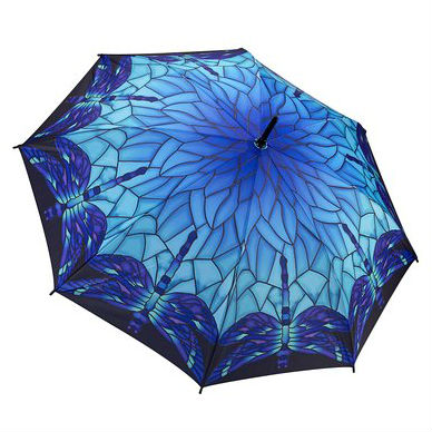 Stained Glass Dragonflies Umbrella