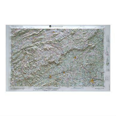 Winston-Salem NC Relief Map