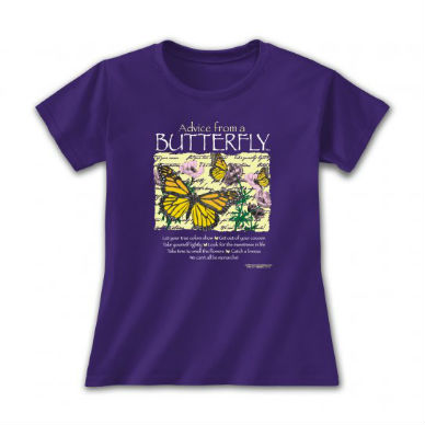 Advice from a Butterfly T-shirt