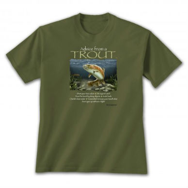 Advice from Trout T-shirt