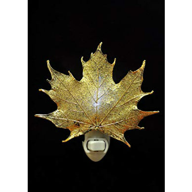 Real Maple Leaf Night Light