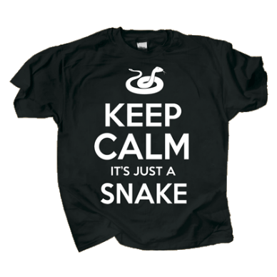Keep Calm It's Just a Snake T-shirt