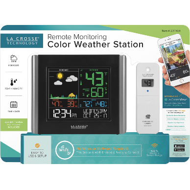 LaCrosse Remote Monitoring Weather Station packaging